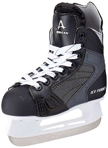 American Athletic Shoe Boys Ice Force Hockey Skates, Black, 1