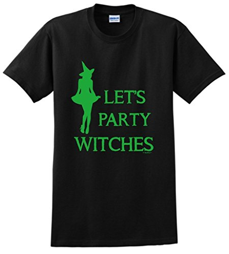 [Plus Size Halloween Costume Halloween Let's Party Witches T-Shirt 2XL Black] (Used Plus Size Halloween Costumes)