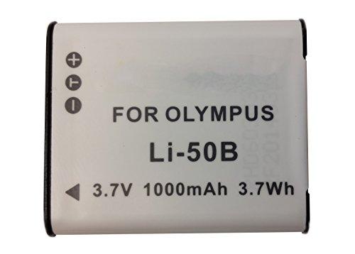 Olympus VR-370 Digital Camera Battery Lithium-Ion (1000 mAh) - Replacement for Olympus LI-50B Battery