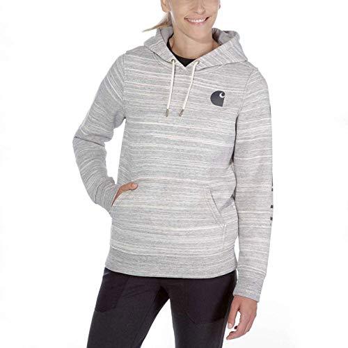 Carhartt Women's Clarksburg Graphic Sleeve Pullover Sweatshirt, Shadow Space dye, L