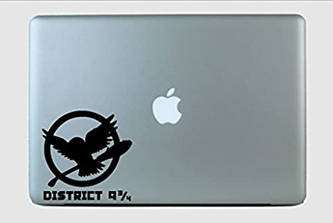 District 9 and 3/4 Fandom Mash Up Harry Potter Hunger Games Vinyl Decal Sticker Emerald (The Hunger Games Laptop Decal)