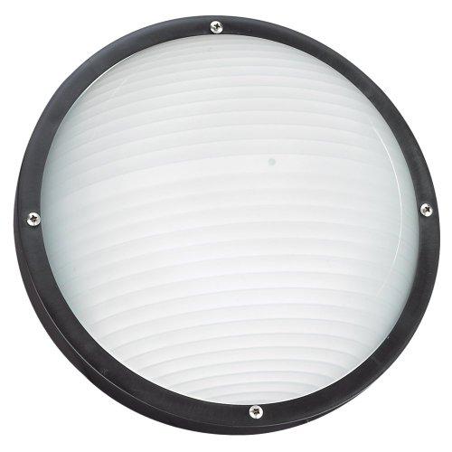 Sea Gull Lighting 83057-12 Bayside Outdoor Wall Lantern, Black
