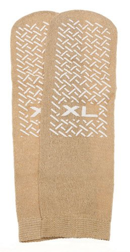 Dynarex Corporation Slipper Socks Beige