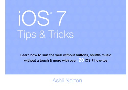 Learn iOS 7 Tips and Tricks (Norton Ipad)