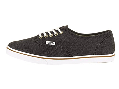 Vans Mens Authentic Lo Pro Low Top Lace Up Fashion Sneakers, Black, Size 6.5