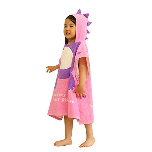 DoMii Toddler Kid Hooded Bath Towel Dinosaur Cotton Absorben