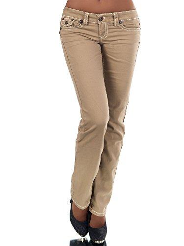 Diva Claro marrón para Mujer Cut Jeans Vaqueros Básico Boot 40 Pantalones rwfx6rq1z
