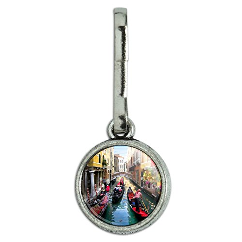 (GRAPHICS & MORE Venice Italy Gondolas Canals Antiqued Charm Clothes Purse Suitcase Backpack Zipper Pull Aid)