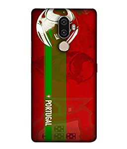 ColorKing Football portugal 10 Red shell case cover for 1