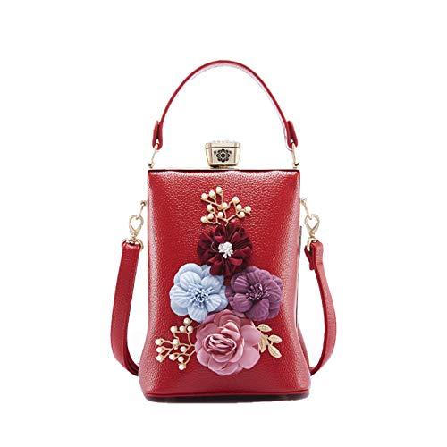 Miniatura Pequeña Mujer Y Flores Bandolera Red Bolso Messenger wav4fCEq