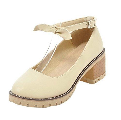 Agoolar Femme Cuir Boucle L Pu Couleur Chaussures Unie RpRUqW1O