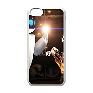 Eve And Wall E Cartoon iPhone 5c Cell Phone Case White Customized Toy pxf005_9718817