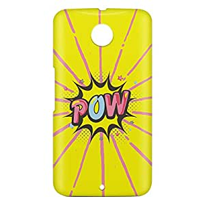 Loud Universe Motorola Nexus 6 3D Wrap Around Comic Pow Print Cover - Multi Color