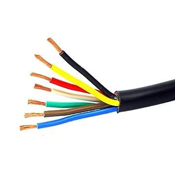 Anhängerkabel Anhänger 5 M Kabel 7 Polig Fahrzeugkabel Leitungskabel ...