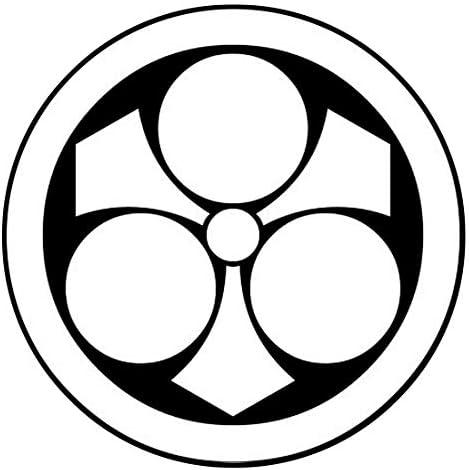 家紋シール 「丸に剣三星」6枚入 男性紋・女性紋・子供サイズ・黒地用・白地用 貼付け家紋 着物用 KOM191
