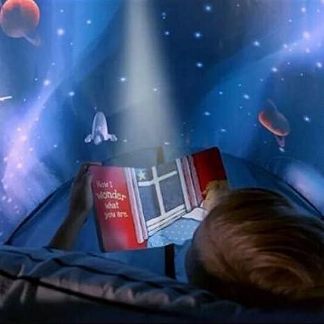 Tents Magical World Tiendas de ensueño nuevas carpas de ensueño populares para los niños para cama infantil dormitorio juguete (Aventura espacial)