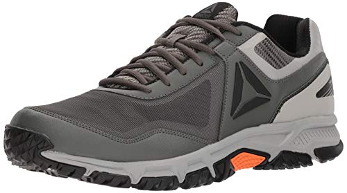 Trail Runner Tech Tee - Reebok Men's Ridgerider Trail 3.0 Sneaker, Ironstone/Stark ash Grey/Black/Bright Lava, 11.5 M US