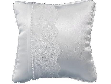 Cojín blanco con punta blanco y perlas, 20 x 20 cm: Amazon ...