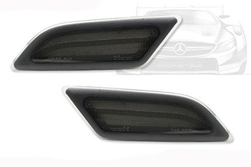 Racingbees Smoke Lens LED Side Marker Lights Fit 2012-2014 Mercedes Benz W204 C-Class C250 C300 C350 Sedan/Coupe (SMOKE) Generic