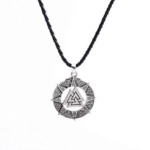 Celtic Warrior Jewellery - IEason Slavic Norway Valknut Pagoda Amulet Pendant Men Necklace Jewelry Warrior Symbol