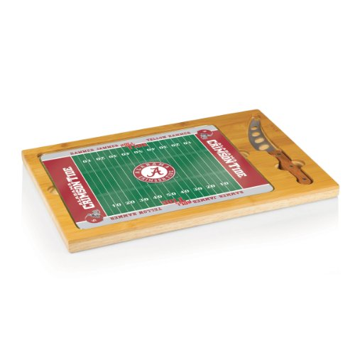 NCAA Alabama Crimson Tide Icon Cheese Set (3-Piece) Alabama Crimson Tide Cheese Board