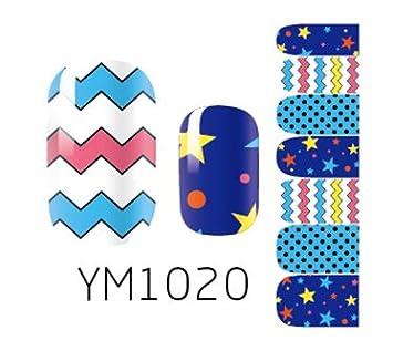 Arte de uñas: Calcomanías y autoadherentes Calcomanía Transferible con Agua YM1028 Pegatina Tatuaje para Uñas Nail Sticker - FashionLife