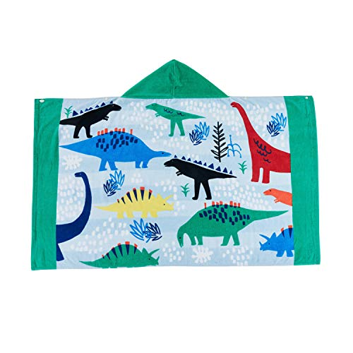Wowelife Dinosaur Hooded Bath Towel Kids for Bath, Pool and Beach, Upgrade 100% Cotton 30 x 50 inch for Boys and Girls, Fits 4-12 Years Old(Dinosaur Hood)