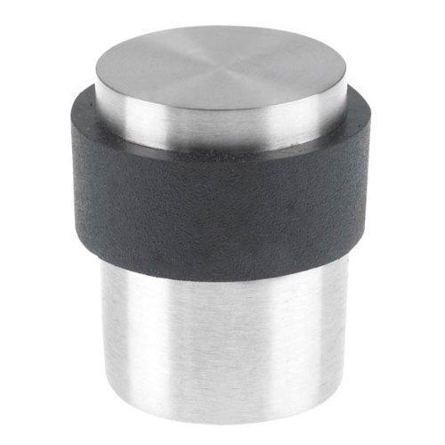 5 X 1 x Door stop 41mm in satin stainless steel for floor mounting, fixings included.. ZOO