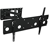 Mount-It! Articulating TV Wall Mount Low-Profile Full Motion Tilting Corner Bracket for 32 - 60 Inch Flat Screen, VESA up to 750x450, 175 lb Capacity (MI-326B)