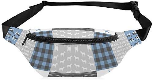 ファームライフホールクロスブルーとグレー ウエストバッグ ショルダーバッグチェストバッグ ヒップバッグ 多機能 防水 軽量 スポーツアウトドアクロスボディバッグユニセックスピクニック小旅行
