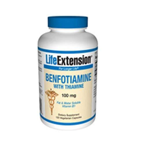 Life Extension – Benfotiamine with Thiamine – 100 Mg – 120 Caps