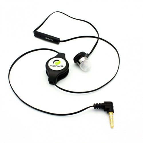 Amazon Com Black In Ear Retractable Mono Headset Wired Single