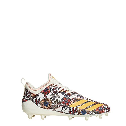 adidas Adizero 5-Star 7.0 Sunday's Best Cleat - Men's Football 18 Off White/Real Gold/Hi Res Red (Adizero 5 Star Sunday's Best)