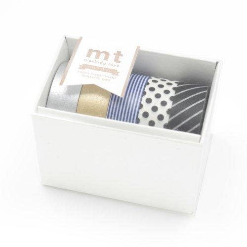 MT Kamoi Kakoshi Masking Tape Gift Box, 15mm Width, 10mm Roll In 5 Pieces (MT05G004)