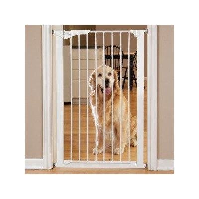 Command Pet Tall Pressure Gate, 42' H/29-32 W, White