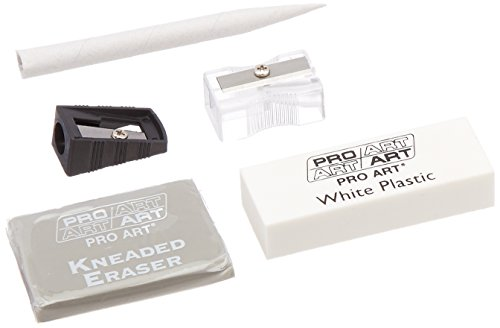 Pro-Art Drawing Tools Eraser & Sharpener Value Set ()