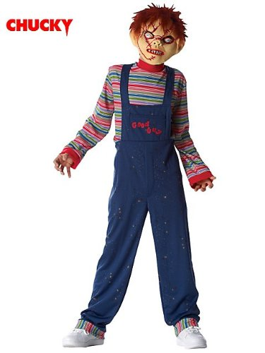 [Licensed Chucky (tm) Costume w/mask for Child] (Chucky Costume For Kids)