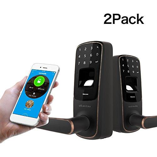 - 2 Pack Ultraloq UL3 BT Bluetooth Enabled Fingerprint and Touchscreen Smart Lock(Aged Bronze)