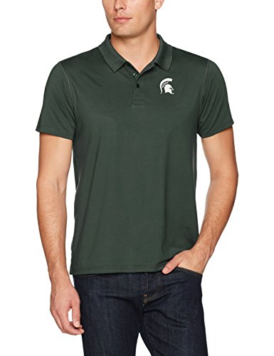 NCAA Michigan State Spartans Men's Ots Sueded Short sleeve Polo Shirt, Large, Dark Green -