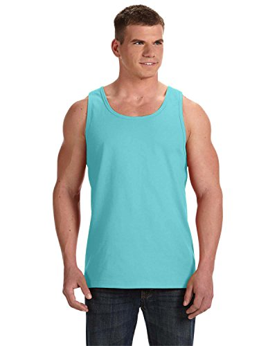 Tank Blue Logo - Fruit of the Loom Adult 5 oz. HD CottonTM Tank S SCUBA BLUE