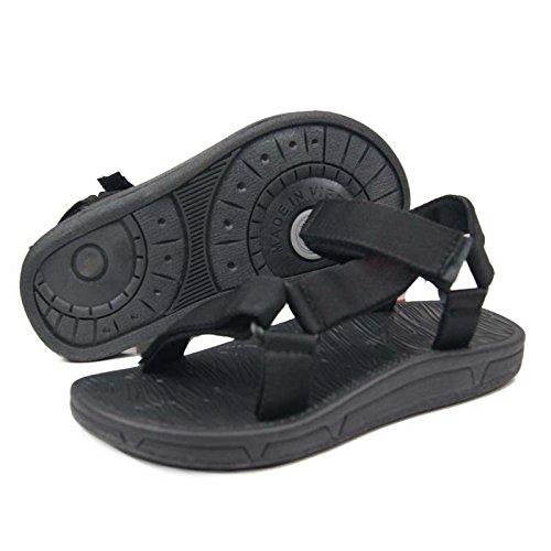 I sandali antisdrucciolevoli delle donne dei sandali di New Men Sandali da giardino esterni, il nero, UK = 8.5, EU = 42 2/3