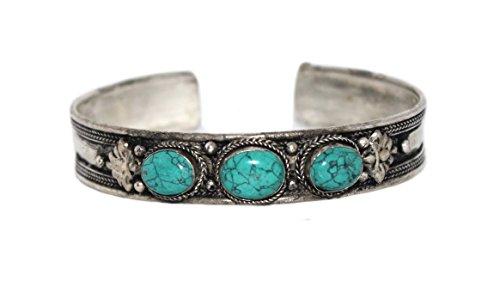 Cuff Bracelet, Turquoise Bracelet, Tibetan Bracelet, Nepal Bracelet, Yoga Bracelet
