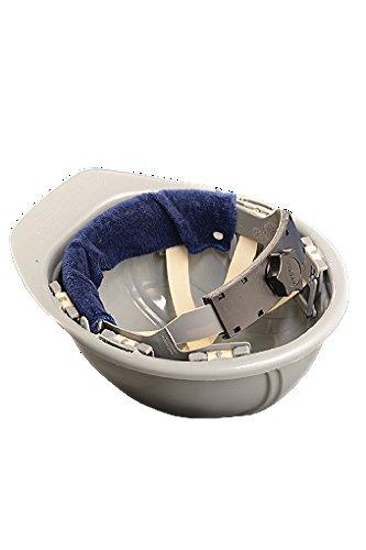 (3PCK-Snap-On Hard Hat Sweatband - BEST SELLER - Beat the Heat - BLUE )