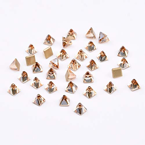 2019 New Square Crystals 3d Spikes Designs for Nails Glass Rhinestones Nail Art Jewels Decoration Accessories 45pcs
