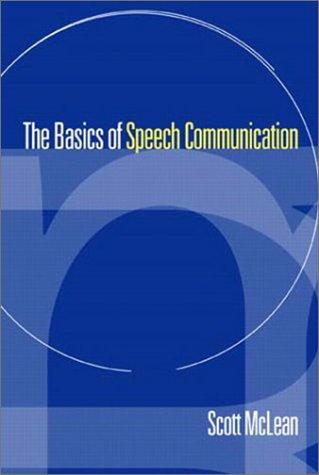The Basics of Speech Communication