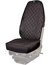 Semi Truck Seat Cover Antibacterial Silver-Treated in Black (Made in Canada)