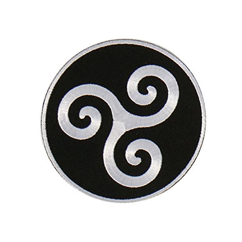 "Hot Leathers, KARMA SYMBOL, Premium Quality Iron-On / Saw-On, Heat Sealed Backing Rayon PATCH - 4"" x 4"""