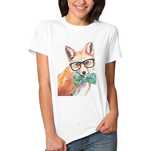 iBaste Mujer Shirt De Moda De Diseño Simple Camisa De Manga Corta Cuello Redondo