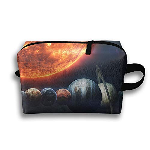 Ministoeb Storage Bag Travel Pouch Sun Planet Artistic Illustration Purse Organizer Makeup Bag Data Wire Cosmetic Stationery Holder ()