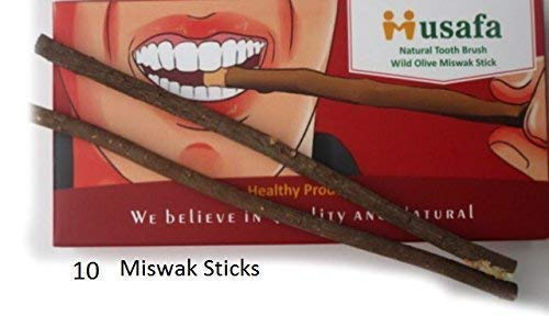 10 Natural Tooth Brush Miswak Sticks (Tree Name Wild Olive) Also Called Aswad Miswak Or Zaitoon Siwak (100% Natural Healthy Product.)